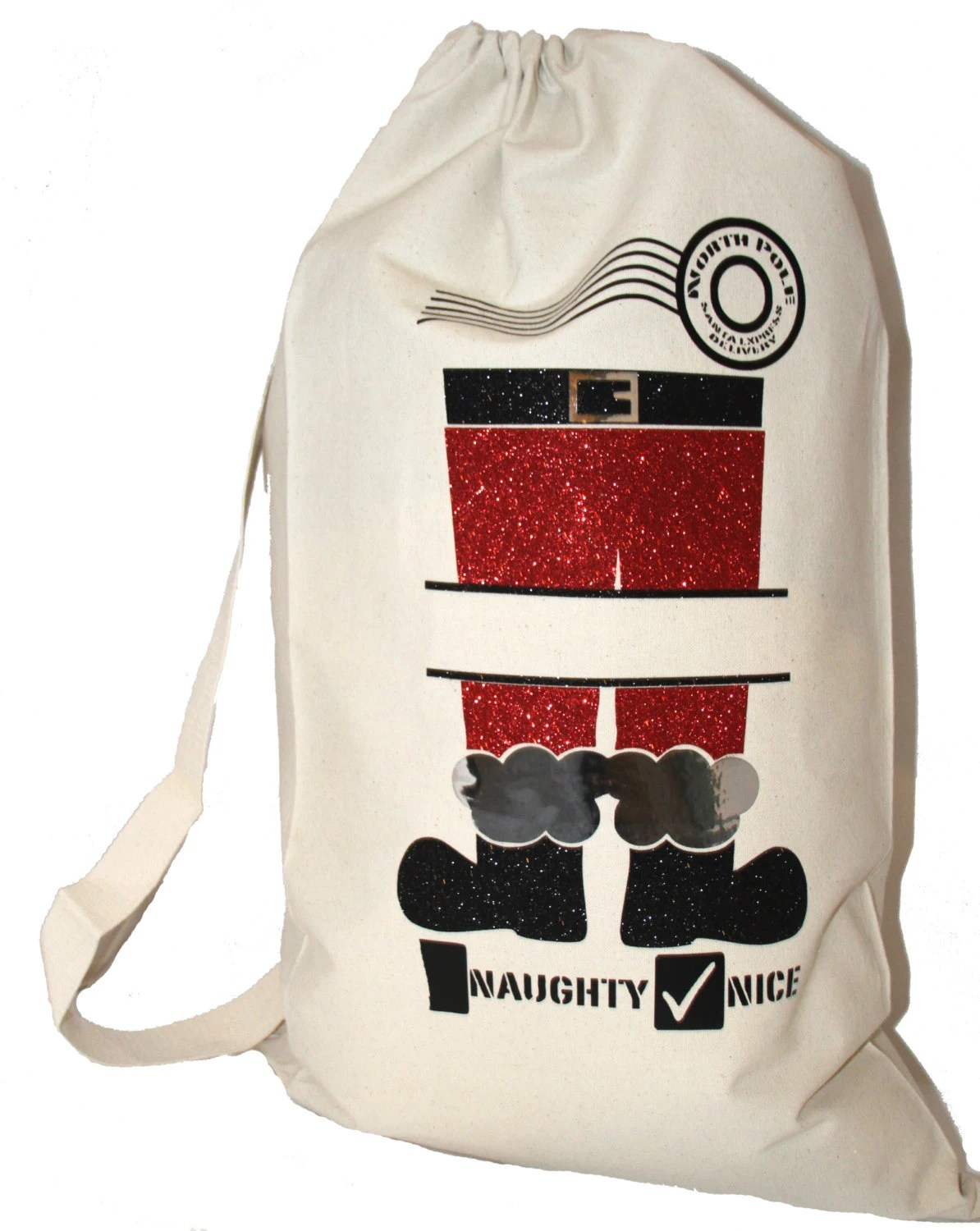 Santa Sack T Bag For Kids Eco Friendly Reusable Canvas