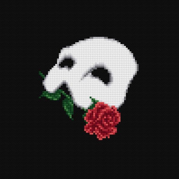The Phantom Of The Opera Musical Cross Stitch Pattern PDF