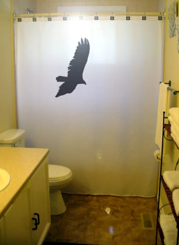 Eagle Shower Curtain Raven Hawk Crow Bathroom Kids Bath Decor