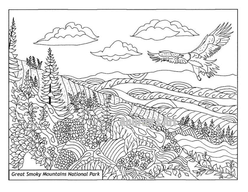 great smoky mountains national park coloring page animals
