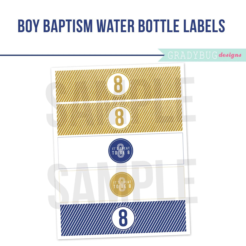 Lds Boy Baptism Water Bottle Labels Printable Drink Wrappers