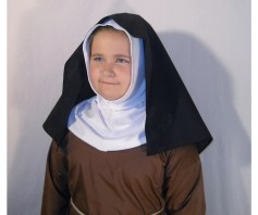 Girl's Wimple and Veil for All Saints Day Nun Costume
