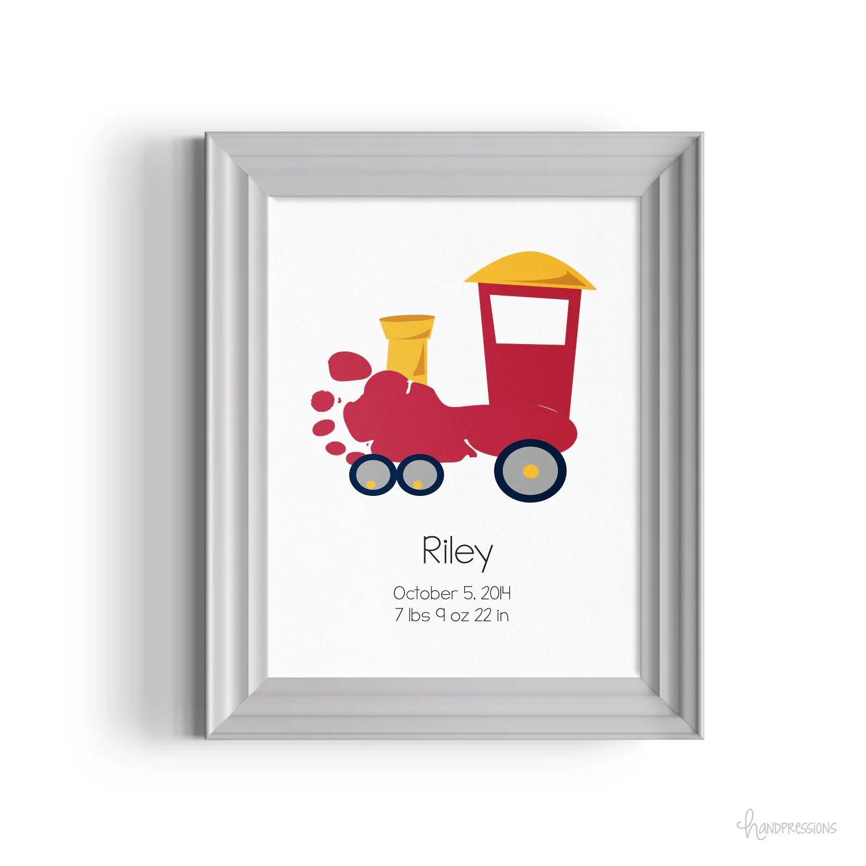Footprint Train Wall Art T Idea Nursery Decor