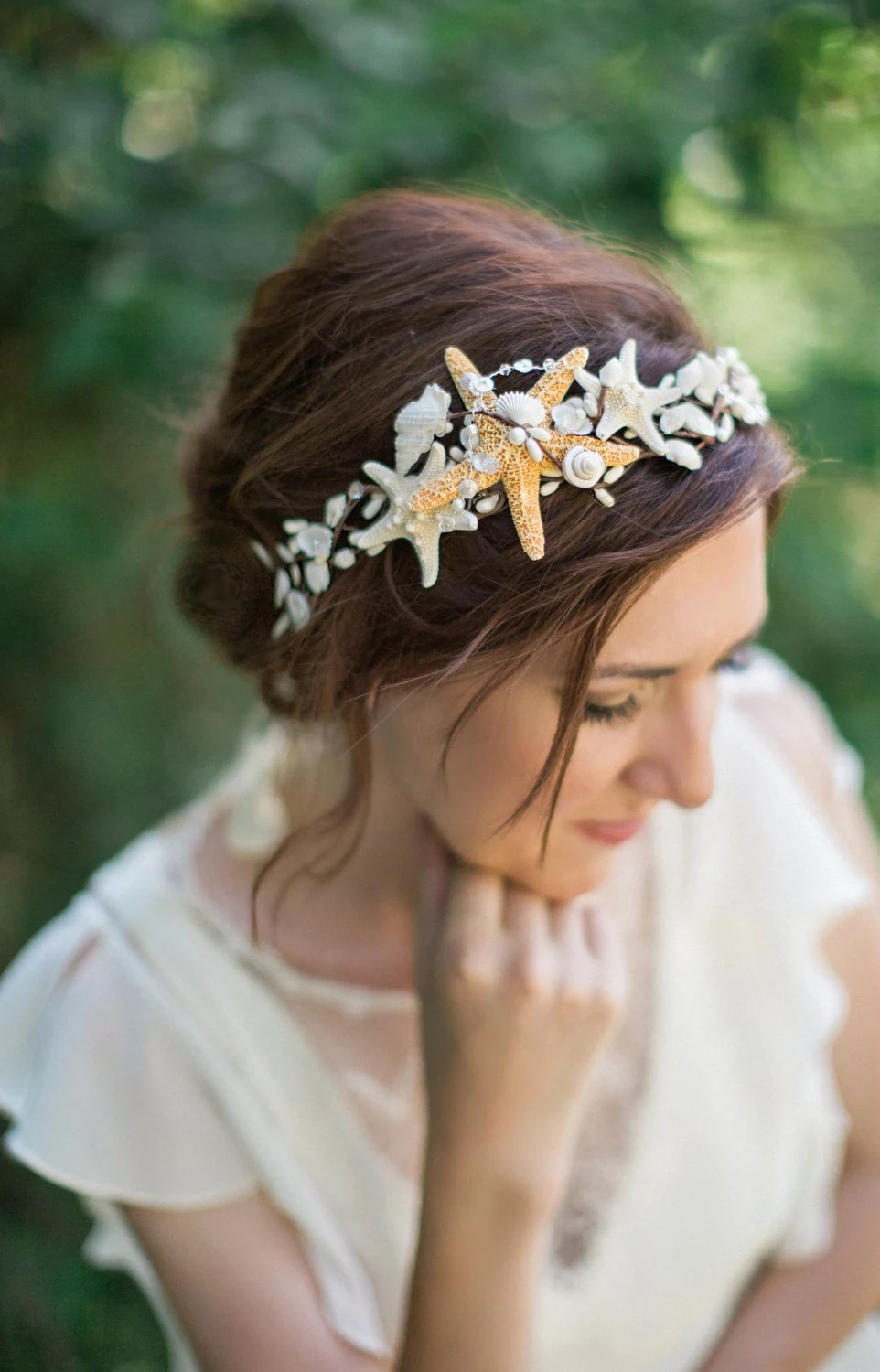 Seashell Headpiece Seashell Headband Seashell Hair By