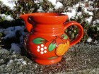 Waechtersbach pitcher red with apple