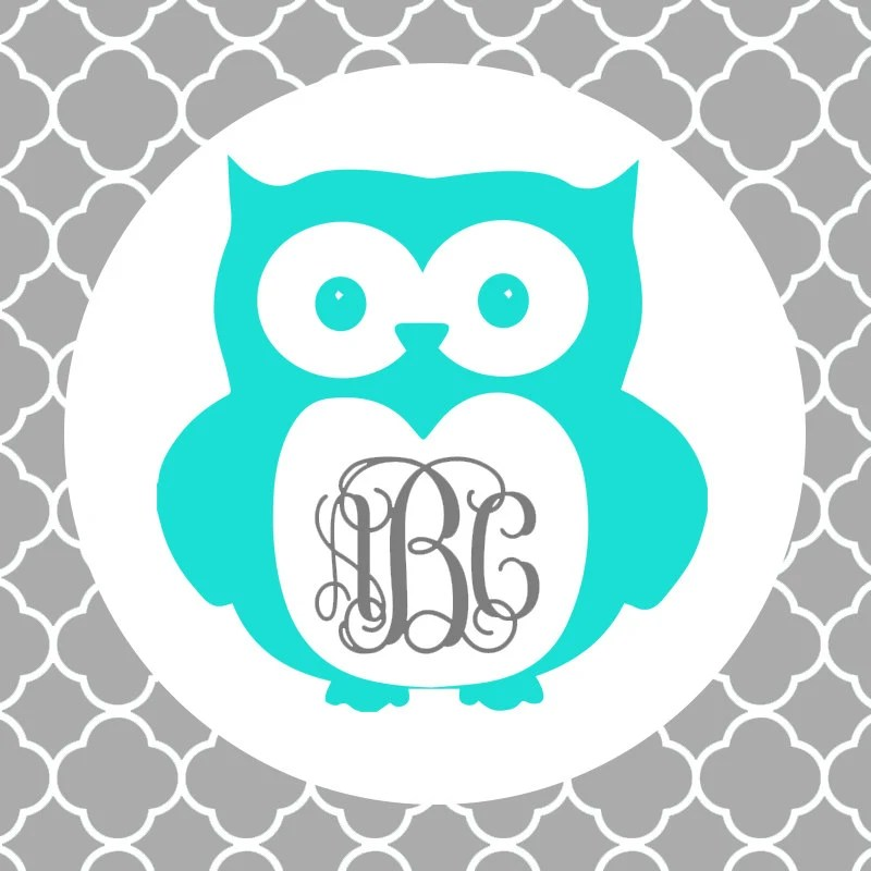 Download Owl Monogram Frame Cutting Files in Svg Eps Dxf Png for