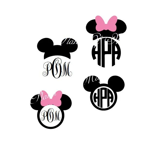 Download Mickey Mouse SVG File, Mickey Mouse Monogram, Minnie Mouse ...