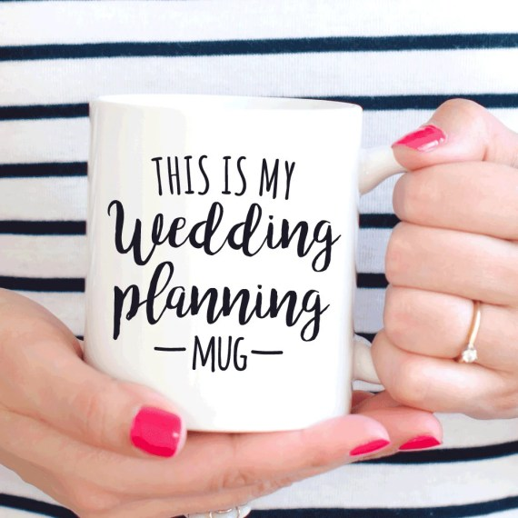 This is my wedding planning mug, bride to be gift, engagement gift for her
