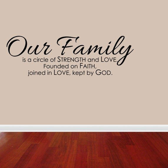 Download Wall Decal Quote Family Is A Circle Of Strength by ...