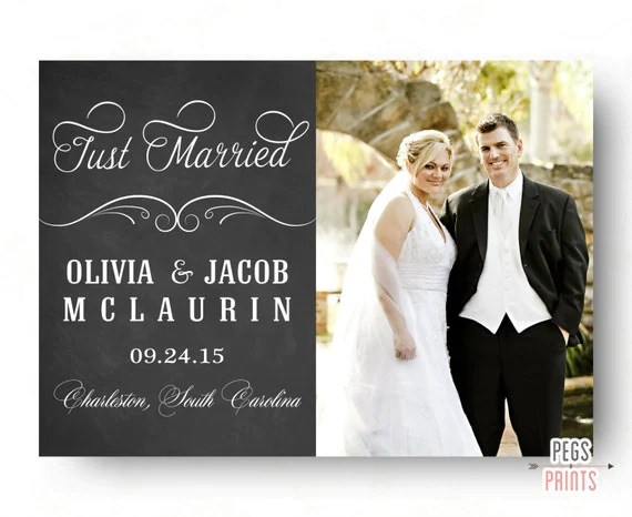 Just Married Announcement Printable Marriage Announcement