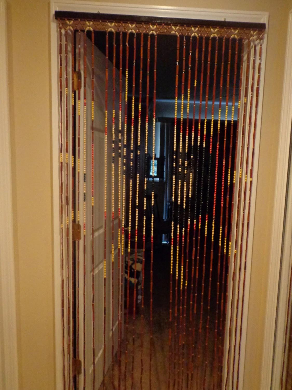 Wood Beads Door Curtain Rertro Bamboo Sun Design Wood Beads