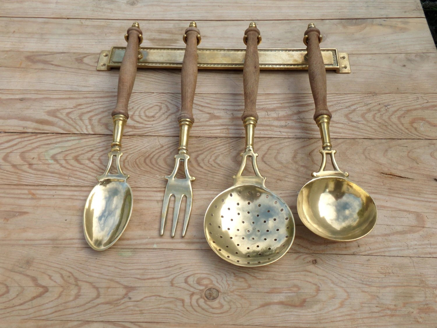 Charming French vintage kitchen utensil set and