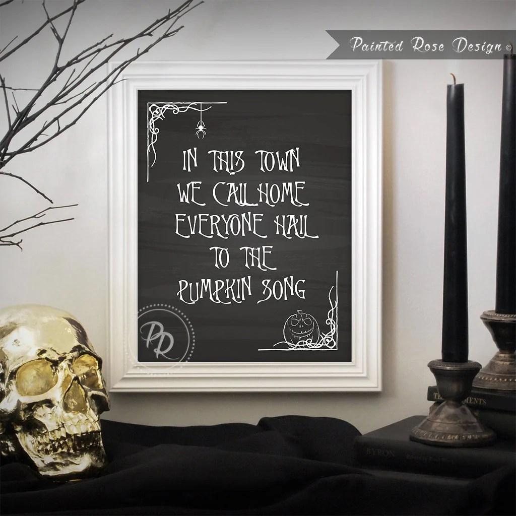 Art Print Nightmare Before Christmas Pumpkin Song Halloween