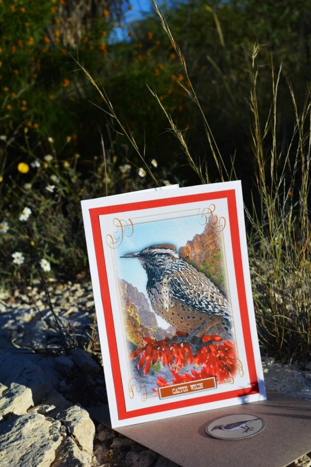 Greeting Card, Desert Bir...