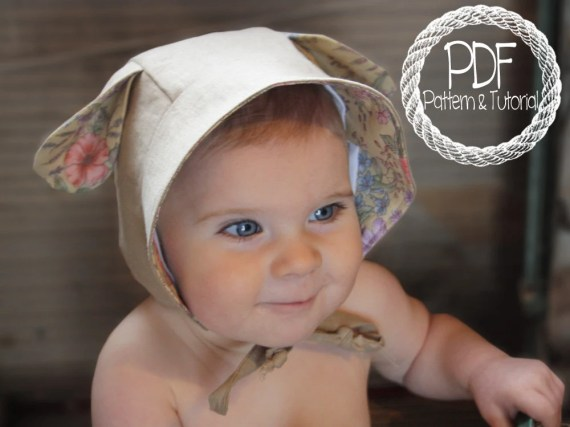Baby Bonnet Sewing Pattern, DIY, Lamb Ear Bonnet Pattern, Sewing Pattern, Easy Bonnet Pattern, Bonnets