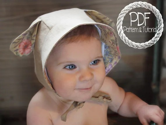 Baby Bonnet Sewing Pattern, DIY, Lamb Ear Bonnet Pattern, Sewing Pattern, Easy Bonnet Pattern, Bonnets