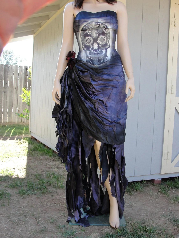 Sugar Skull Day Of The Dead Dia De Los Muertos Costume Wedding