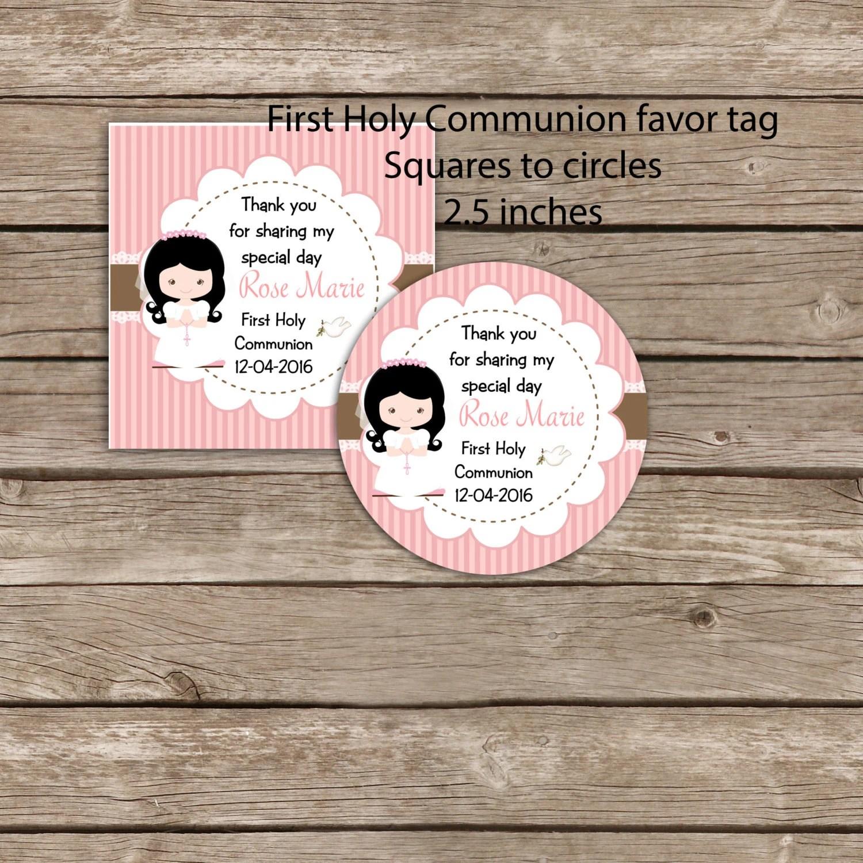 First Communion Printable Favor Tags Digital By Okprintablesshop