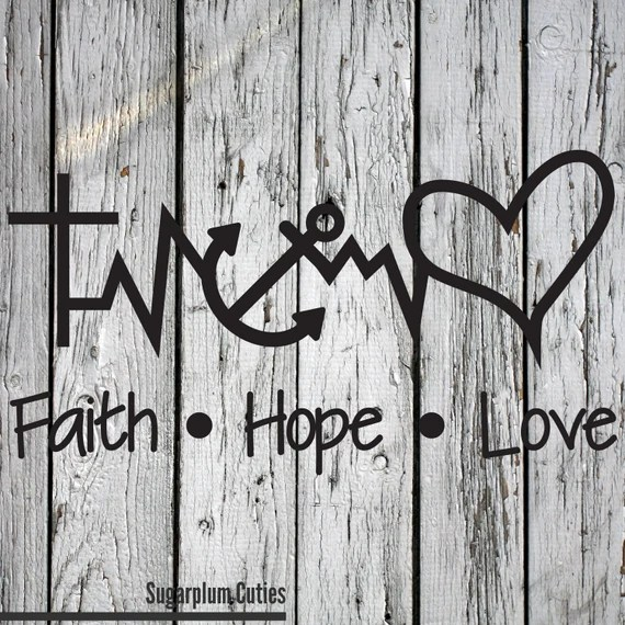 Download SVG PNG DXF Cut File Faith Hope Love Silhouette Cut File