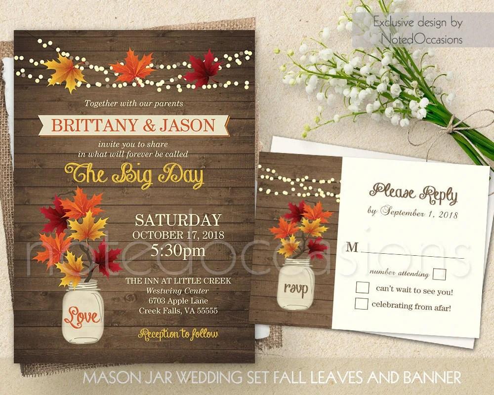 Rustic Outdoor Wedding Invitations