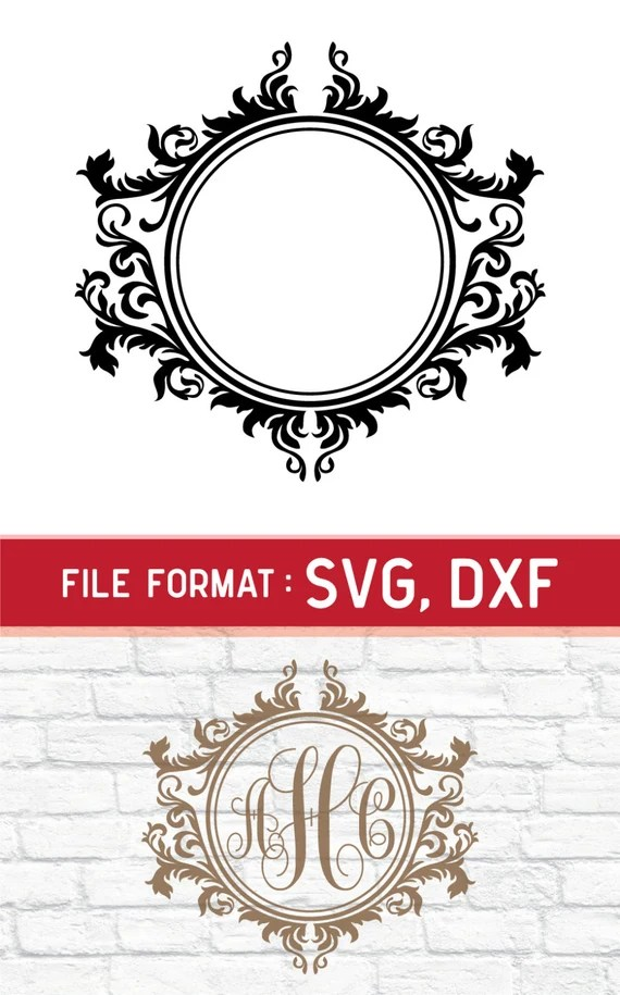 Download SVG Frame Monogram Cricut Files Vinyl Cutters SVG files