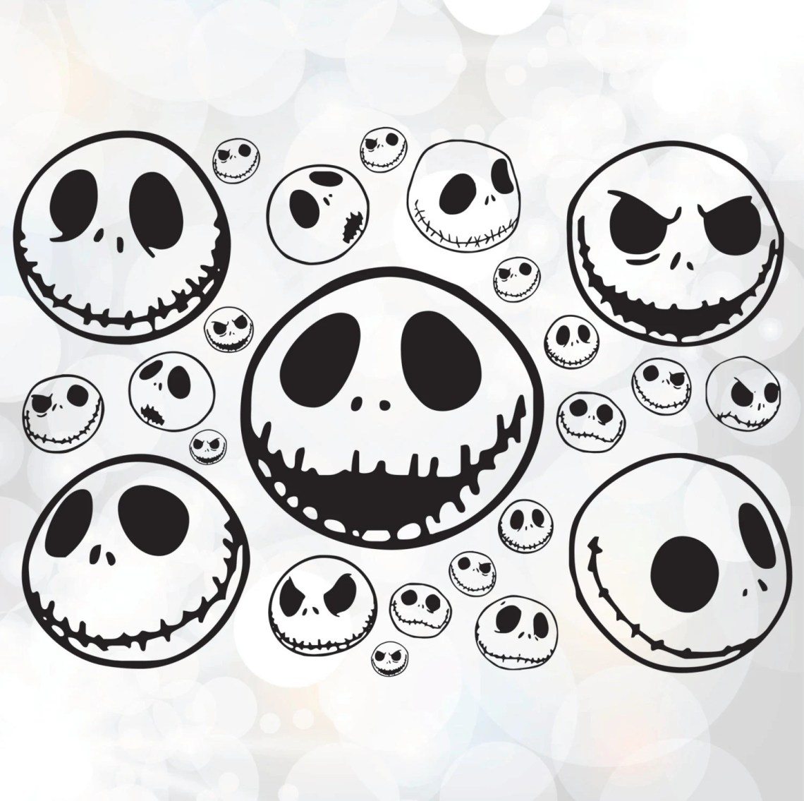 Download Jack Skellington SVG Nightmare Before Christmas by Linescut