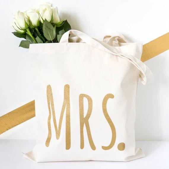 Wedding Gift - Mrs Wedding Tote Bag