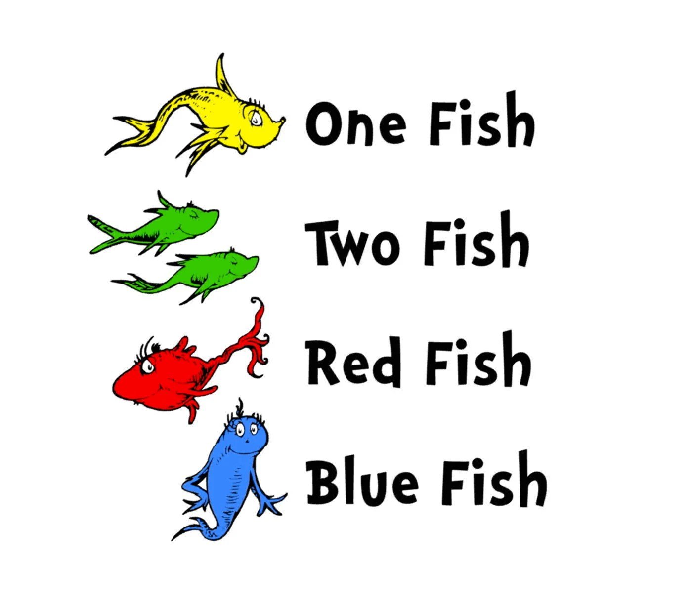 Svg Studio Dr Seuss One Fish Two Fish Scalable Vector Instant