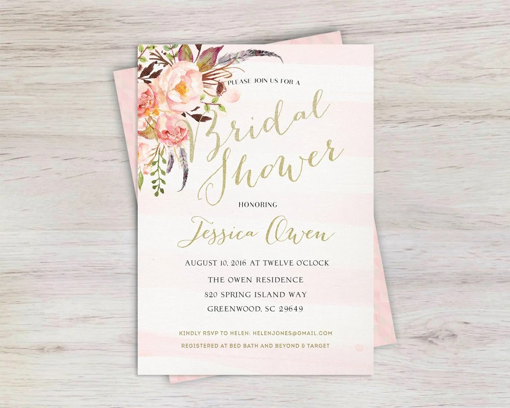 Unique Bridal Shower Invitations
