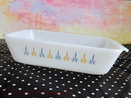 Anchor Hocking Fire-King Casserole: 1-Quart Rectangular Oven/Baking/Serving Dish Mid Century Modern