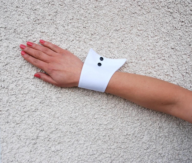 Wrist CuffsWhite Wrist Cuffs Cotton Wrist Cuffs By LittleBunga