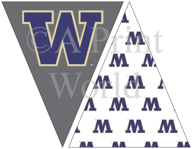 University Of Washington Printable Flags With Uw Logo Easy