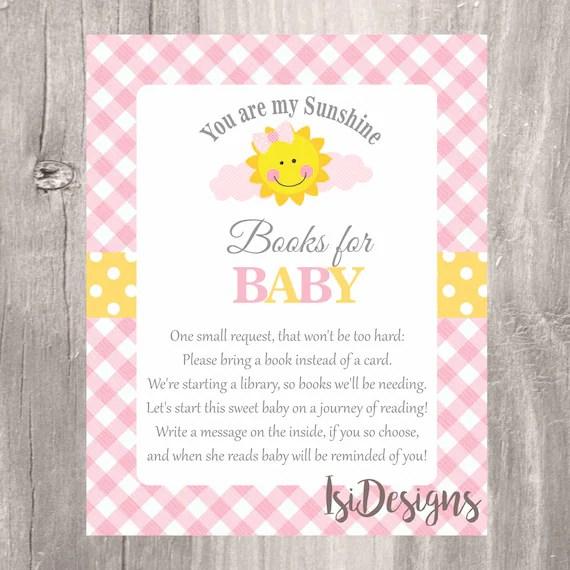 Baby Shower Invitation Inserts Bring Book