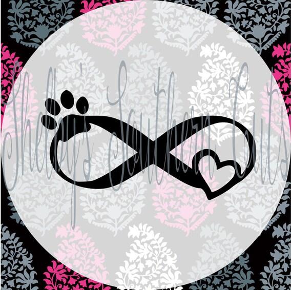 Download Infinity Animal Love SVG DXF EPS digital files