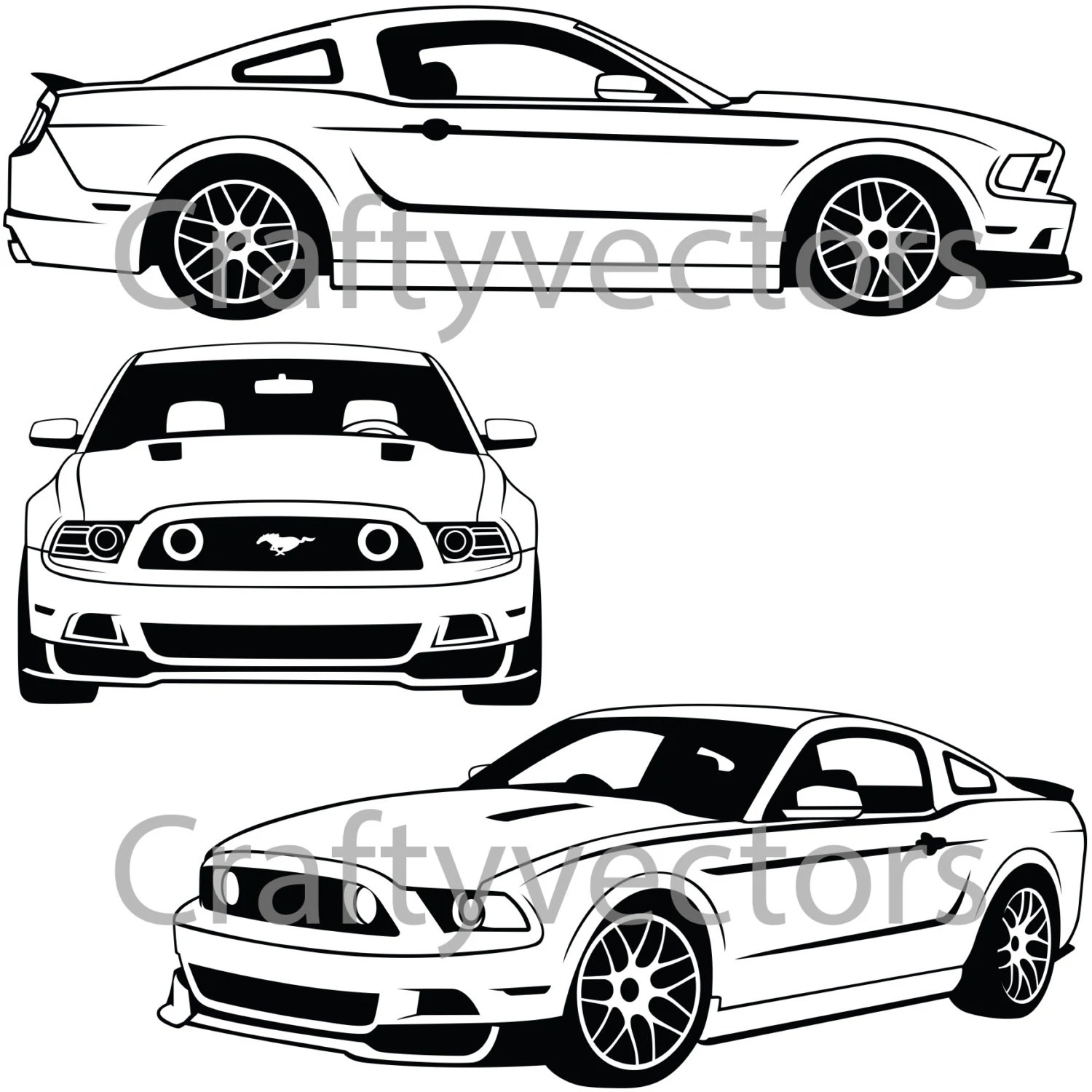 Ford Mustang Vector File
