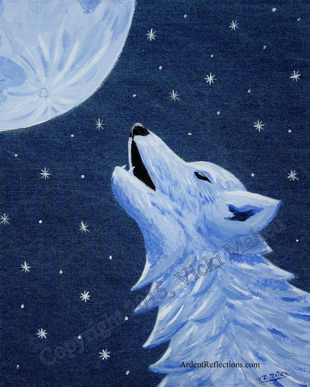 Wolf Decor Wolf Wall Art Wolf Painting Howling Wolf Wolf