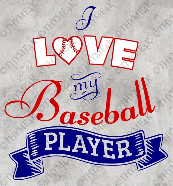 Download Cutting File SVG I Love my Baseball Player Instant