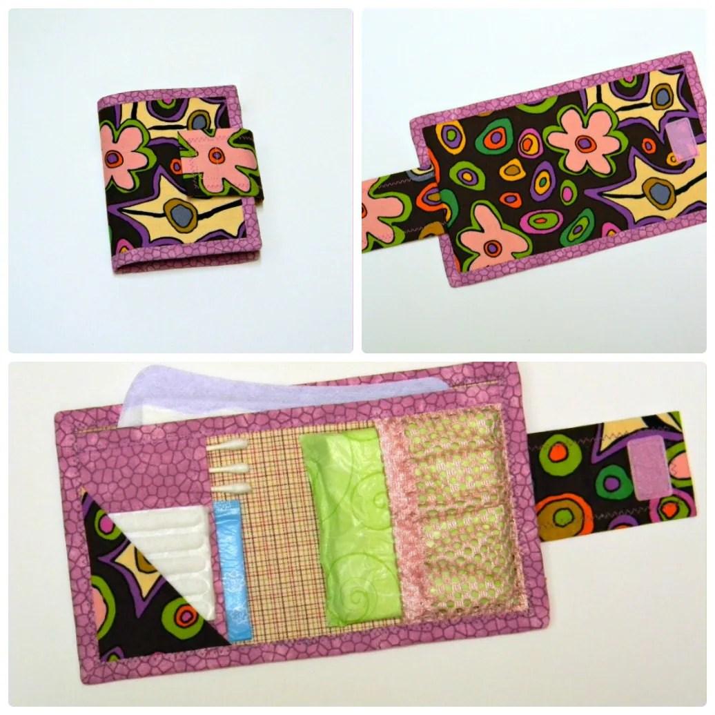 Feminine Hygiene Emergency Kit Woman Toiletry Bag Purse