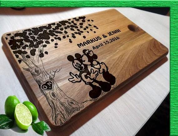 Disney Wedding Gift Cutting Boards Handmade Mickey Mouse