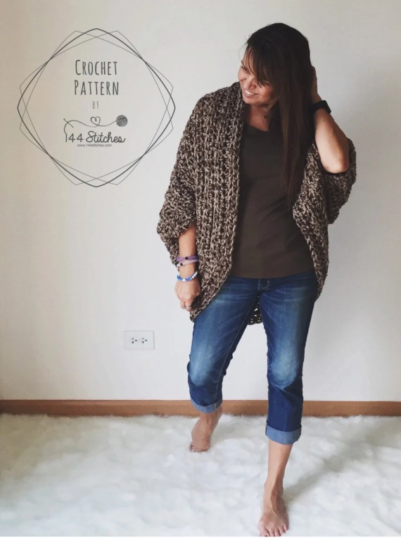 Cocoon Shrug Pattern, The Juno Shrug Crochet Pattern, Instant PDF Cownload