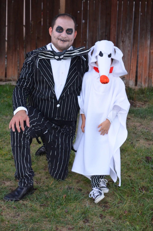Diy Zero Costume Nightmare Before Christmas ✓ The Halloween and Makeup