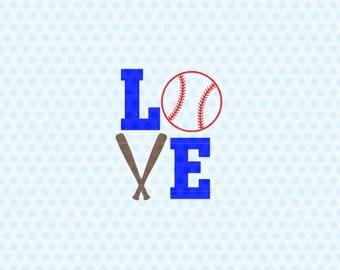 Download Svg love baseball | Etsy