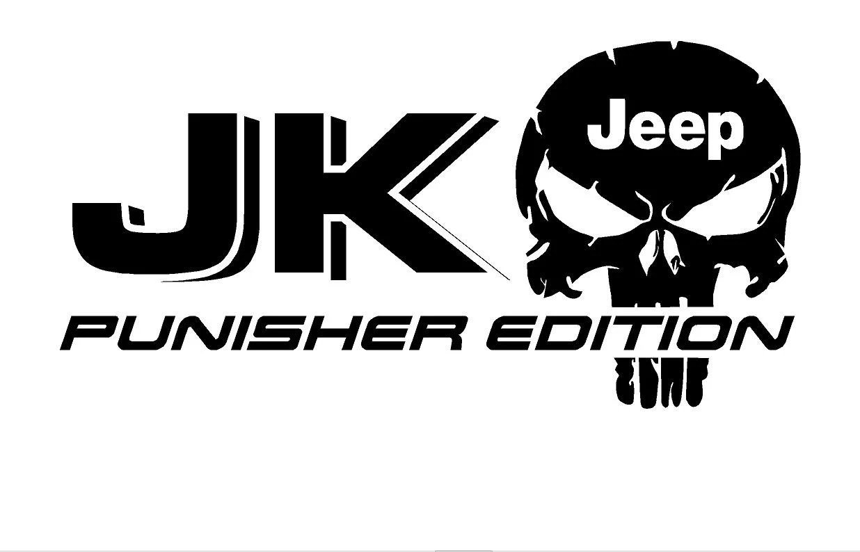 2 Truck Car Decal Jk Jeep Punisher Edition Vinyl