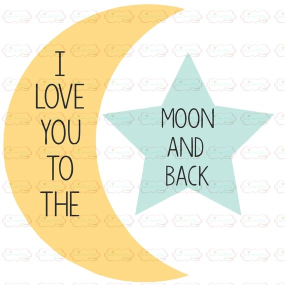Download Baby svg baby cut file I love you to the moon and back SVG ...