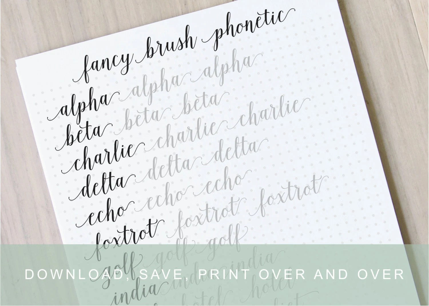 Intermediate Fancy Brush Lettering Worksheets Calligraphy