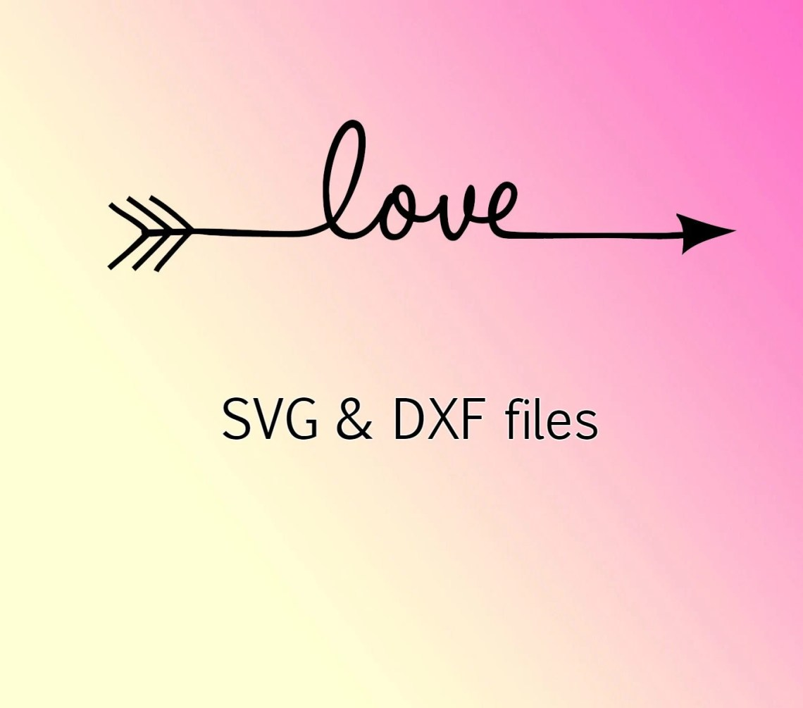 Download Love Arrow svg dxf files Valentine svg heart files for
