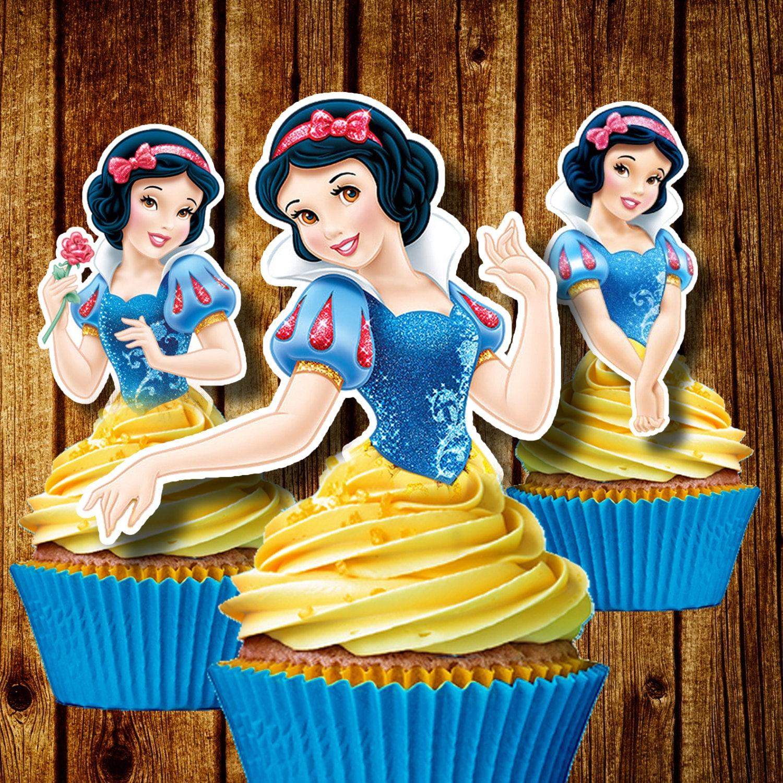 Printable Princess Snow White Cupcake Toppers Disney Cupcake