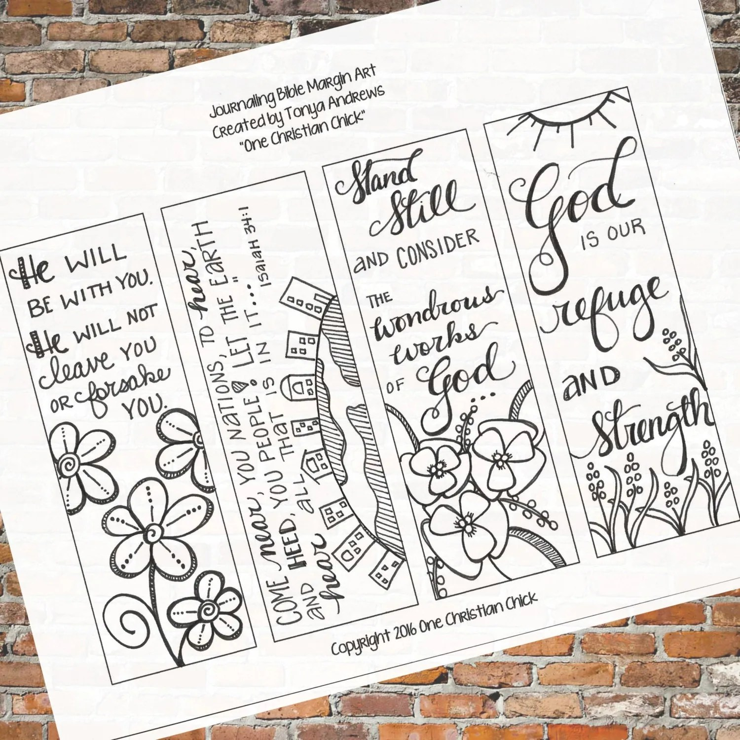 Bible Journaling Stand Still And Consider Downloadable