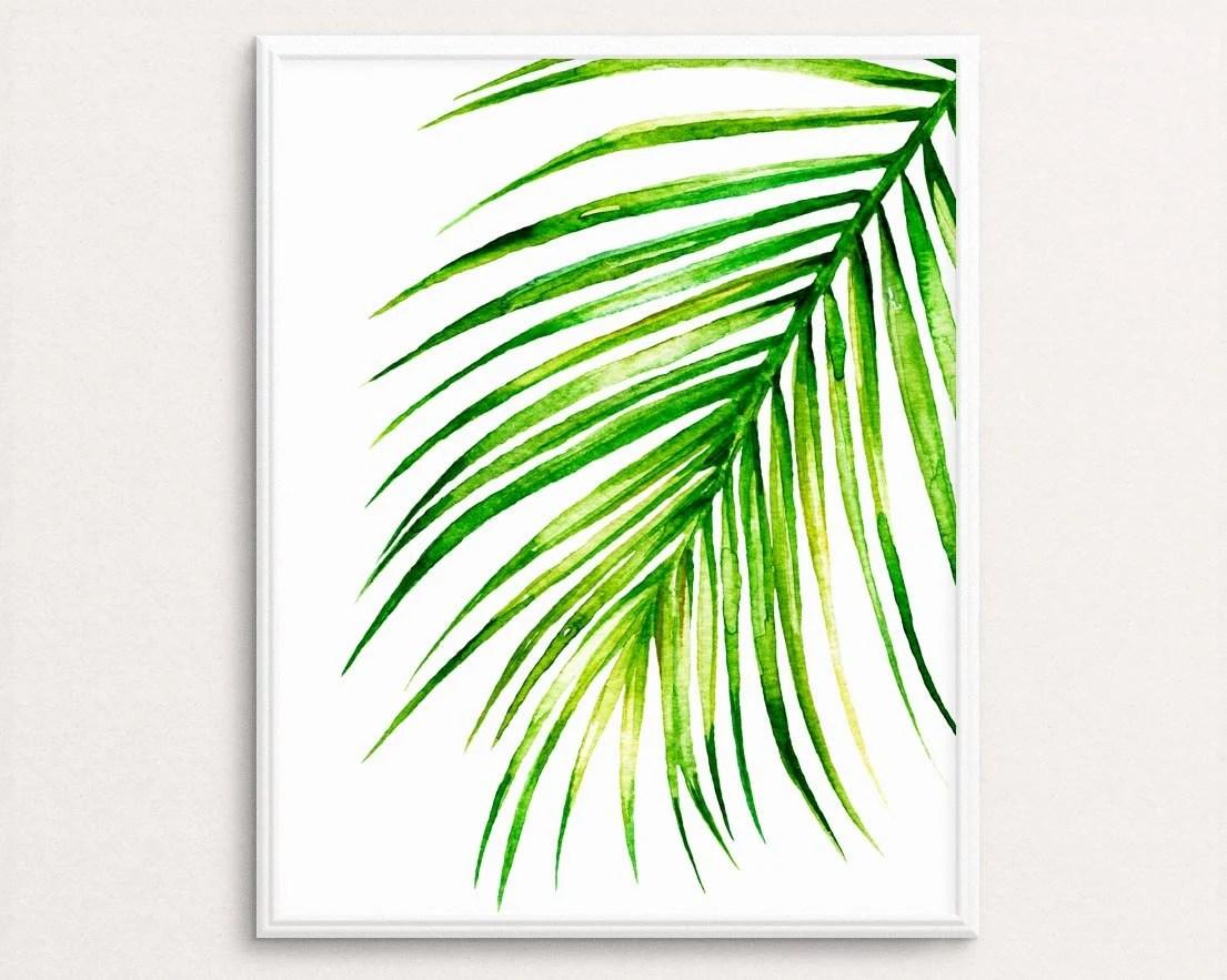 Watercolor Palm Print Palm Leaf Art Palm Wall Art Tropical
