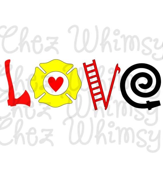 Download Fireman SVG Firefighter Love SVG Cutting File Clip Art SVG